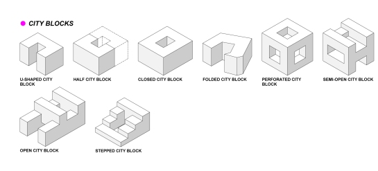 3 CITY BLOCKS